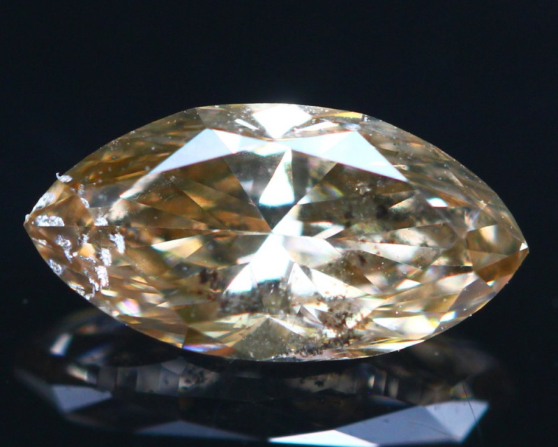 52b667adccfec 0.38Ct Diamond Fancy Natural Champagne Color ER06