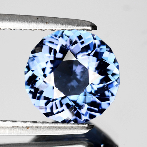 Certified 2.10 Cts Stunning  Natural Blue Spinel 8mm Round Cut SriLanka Gem