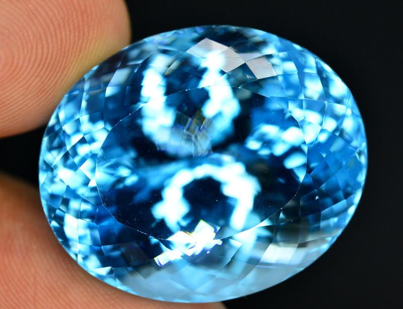 Stunning 88.15 Ct Natural Blue Topaz Gemstone
