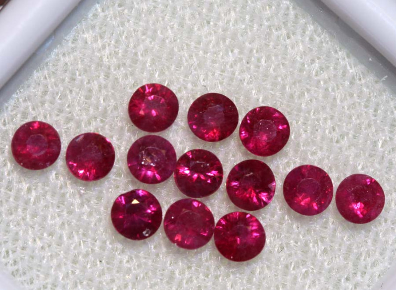 1.52 CTS   NATURAL RUBY FACETED STONE PARCEL CG-2698-colouredgems