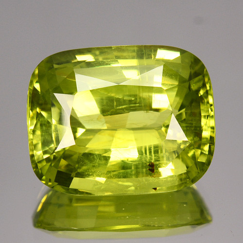 10.60 Cts FANTASTIC NATURAL ULTRA RARE LEMON GREEN CHRYSOBERYL SRILANKA GEM