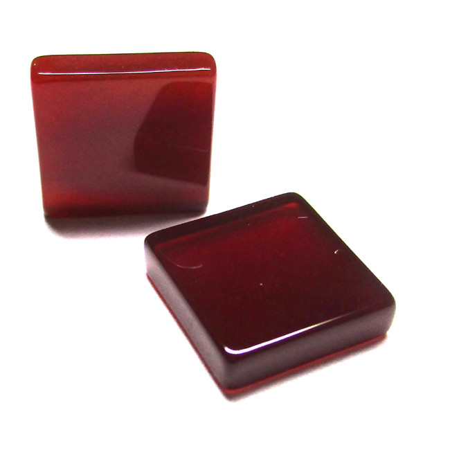 11.31tcw Carnelian  Matched Square Discs