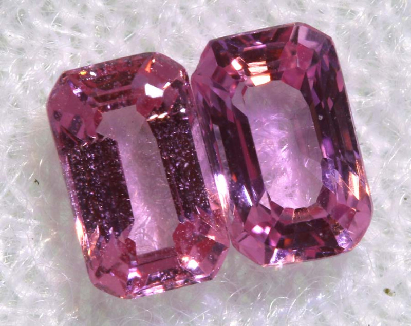 0.86 CTS-  PINK SAPPHIRES FACETED PAIR PG-2760