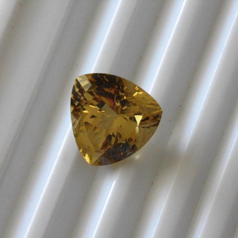 Tourmaline  Yellow Trillion cut Gemstone
