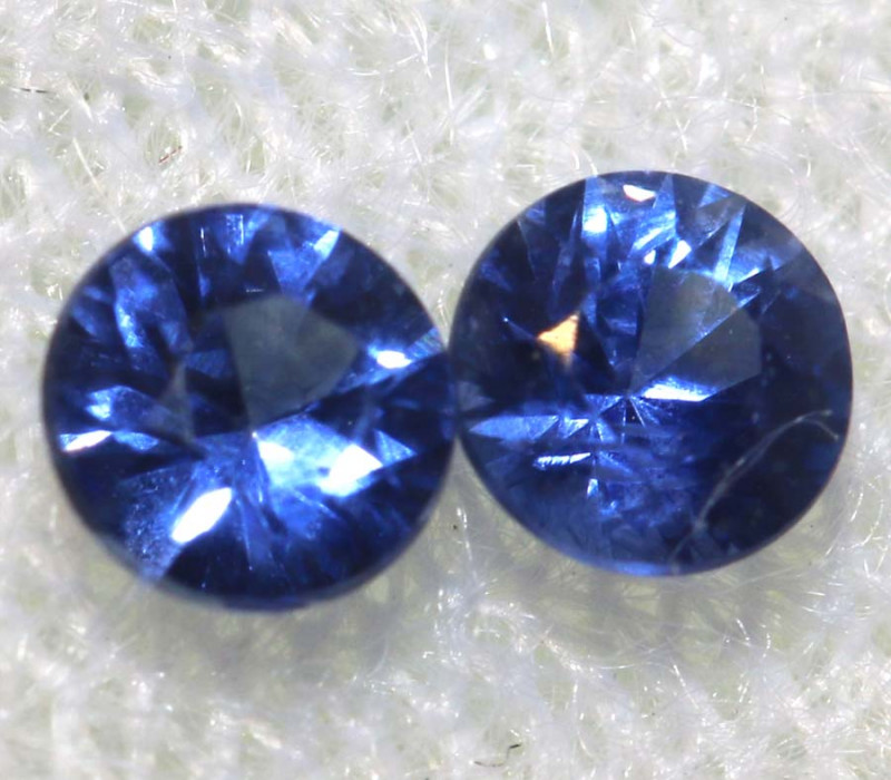 0.35 CTS SRI LANKAN  SAPPHIRES FACETED PAIR PG-2795