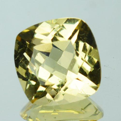 1.11 Cts Natural Mint Yellow Heliodor Beryl Cushion Cut Brazil