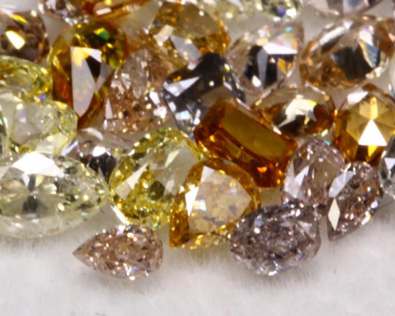 2.53Ct Mixed Fancy Color Diamond Lot BM118