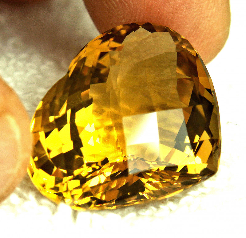 CERTIFIED - 44.44 Carat Brazilian VVS Citrine - Gorgeous