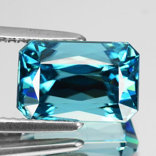 8.29 Cts Natural Blue Zircon Octagon Cut Cambodia Gem