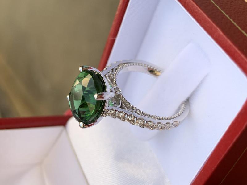 5ct vintage lagoon tourmaline ring