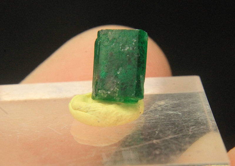 Wow Very Beautiful Rich Color Emerald Crystal Double Terminated Crystal Fro