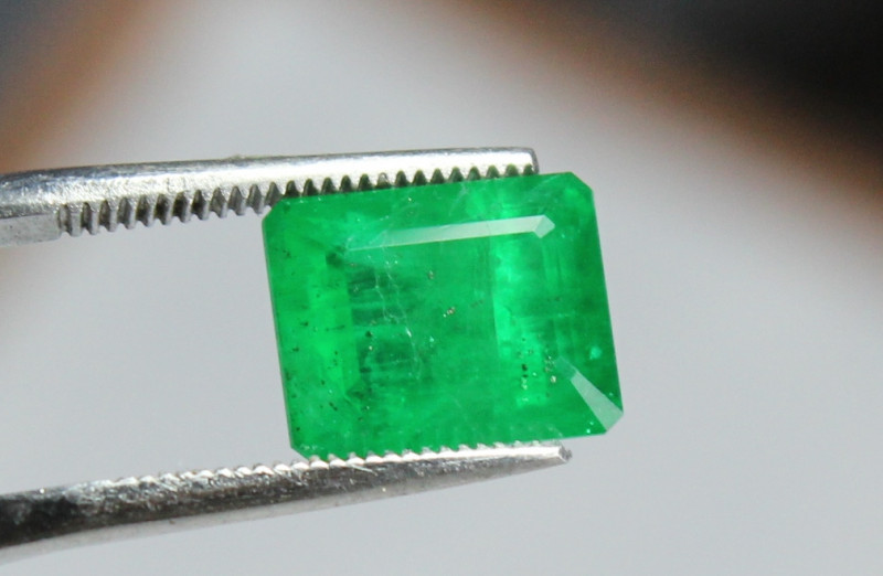 Top Class Emerald Cut Stone with Unique Color from Swat