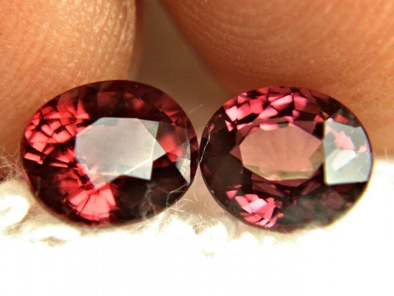 4.89 Carat VVS African Rhodolite Garnets - Superb
