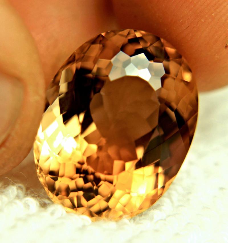 26.22 Carat Fiery VVS Golden Topaz - Gorgeous Gem