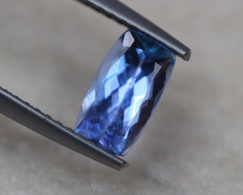 1.24ct Natural Violet Blue Tanzanite Octagon Cut Lot D273