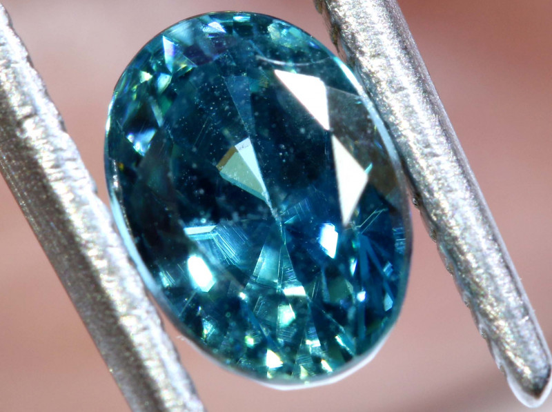 1.88 CTS NATURAL BLUE ZIRCON FACETED PG-2931