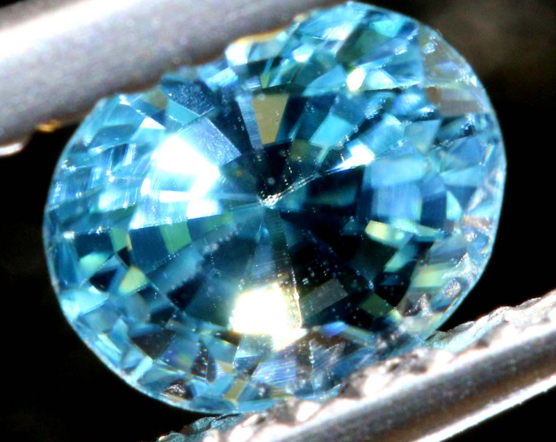 1.18 CTS NATURAL BLUE ZIRCON FACETED PG-2934