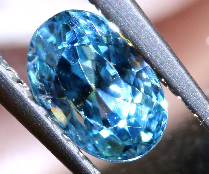 1.01 CTS NATURAL BLUE ZIRCON FACETED PG-2937
