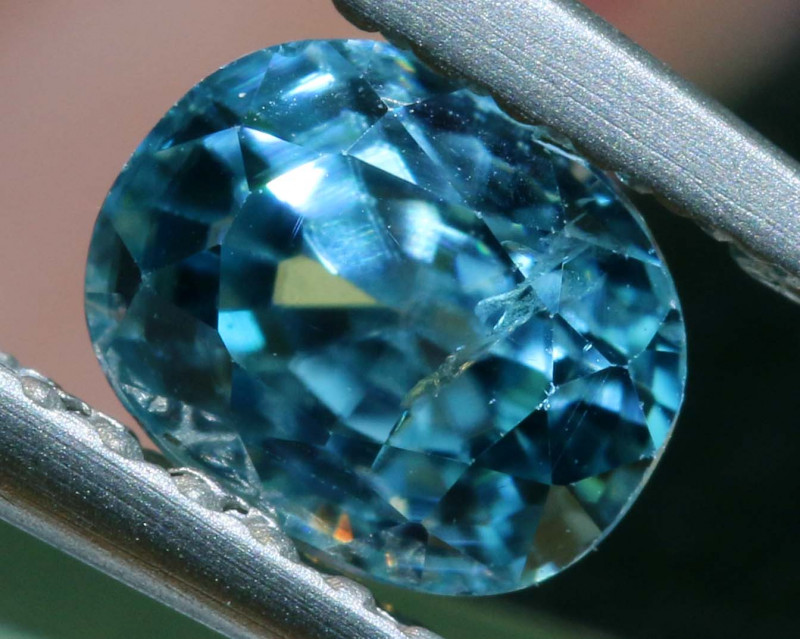 1.14 CTS NATURAL BLUE ZIRCON FACETED PG-2944