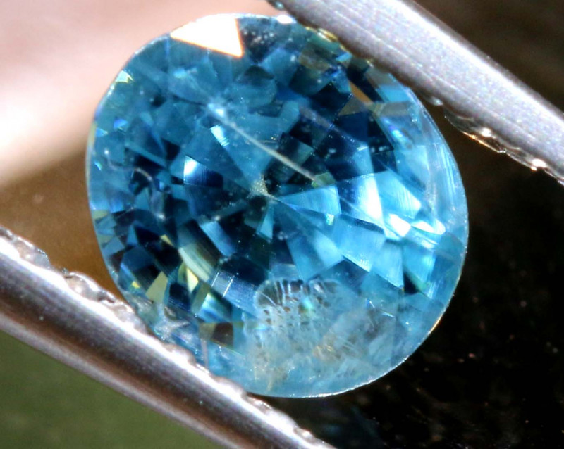 1.44 CTS NATURAL BLUE ZIRCON FACETED PG-2950