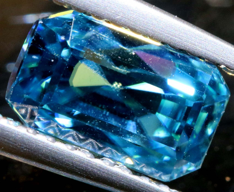 3.14 CTS NATURAL BLUE ZIRCON FACETED PG-2953