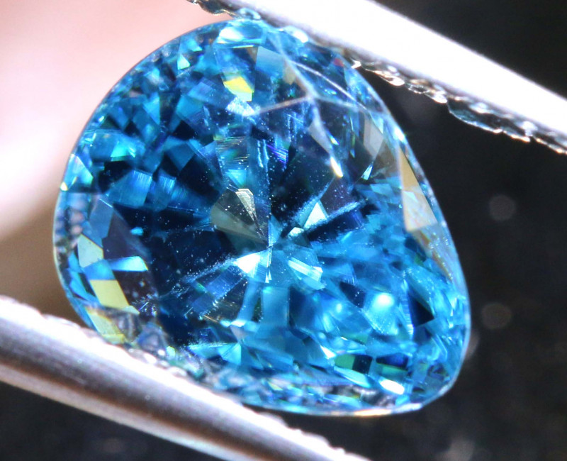 2.98 CTS NATURAL BLUE ZIRCON FACETED PG-2955
