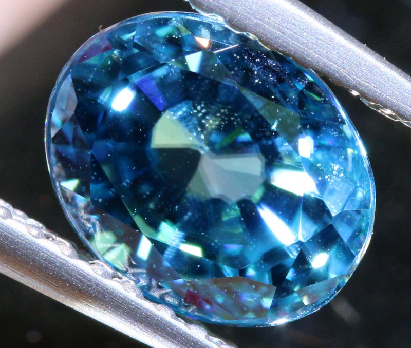2.71 CTS NATURAL BLUE ZIRCON FACETED PG-2956