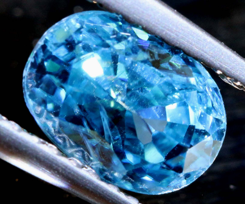 2.28 CTS NATURAL BLUE ZIRCON FACETED PG-2958