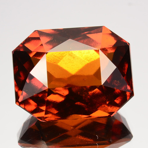 12.60  Cts Natural Cinnamon Orange Hessonite Garnet Cushion Sri Lanka