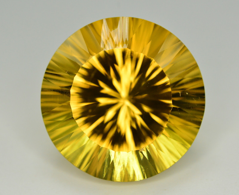 Laser Cut 40.15 Ct Gorgeous Color Natural Citrine