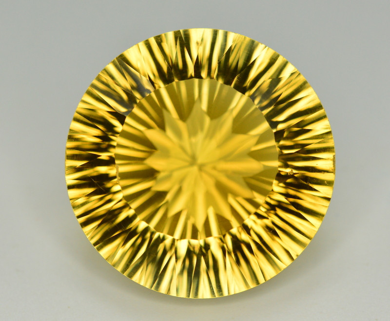 Laser Cut 42.55 Ct Gorgeous Color Natural Citrine
