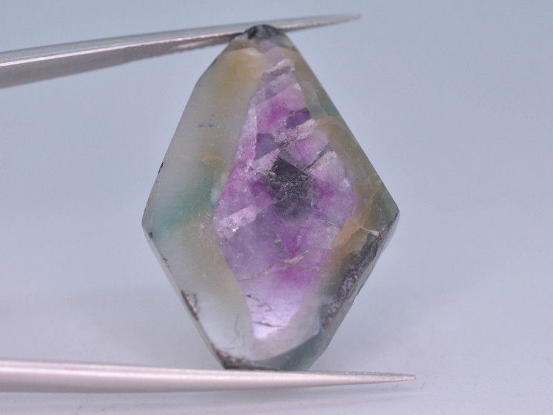 Rarest 26.15 ct Trapiche Pink Kashmir Sapphire Slice ~ T A