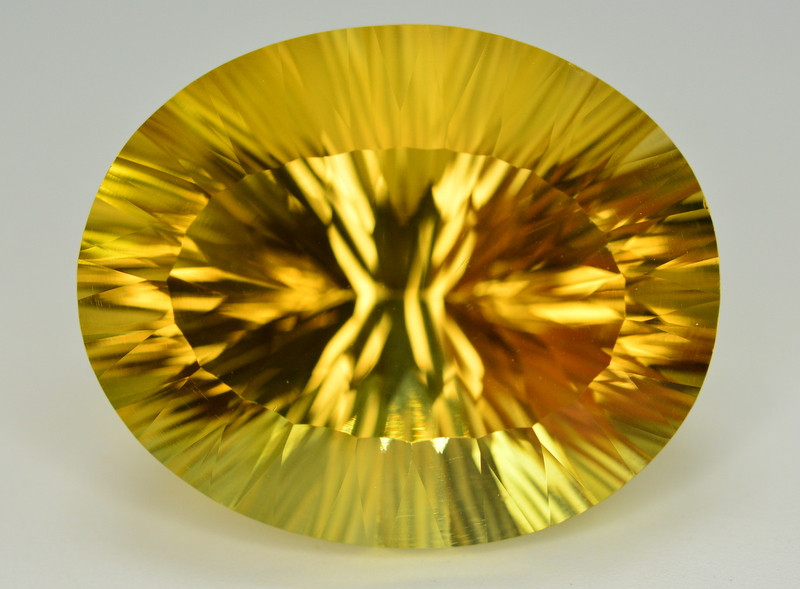 Laser Cut 68.40 Ct Gorgeous Color Natural Citrine