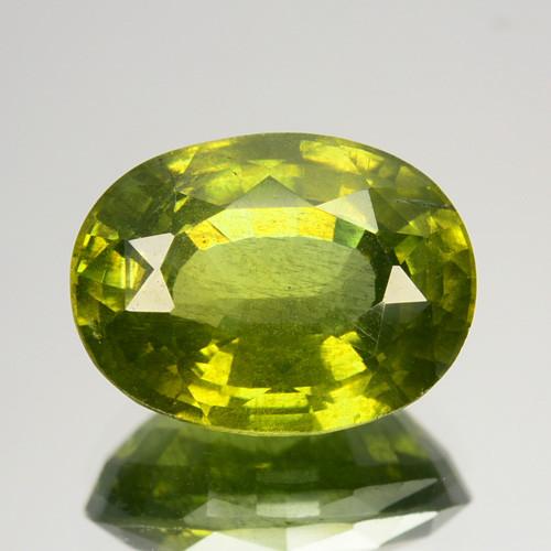 5.55 Cts Natural Sparkling Green Zircon Oval Cut Srilanka