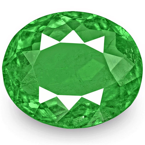 Colombia Emerald, 3.34 Carats, Lively Intense Green Oval