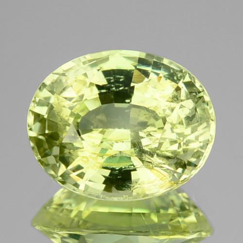 3.10 Cts Natural Lime Green Chrysoberyl Oval SriLanka Gem