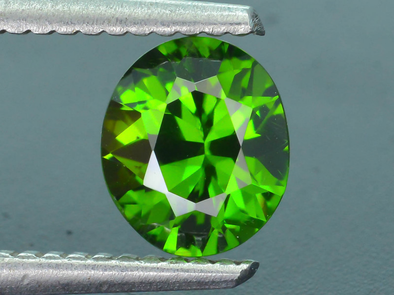 Rare 1.22 ct Green Zircon Great Luster Unheated Cambodia