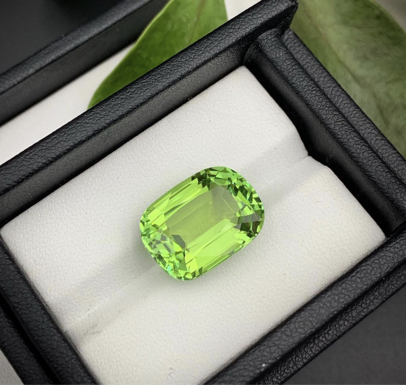 12.43 Carats Top Quality Apple Green Color Tourmaline From Jaba Mine Afghan