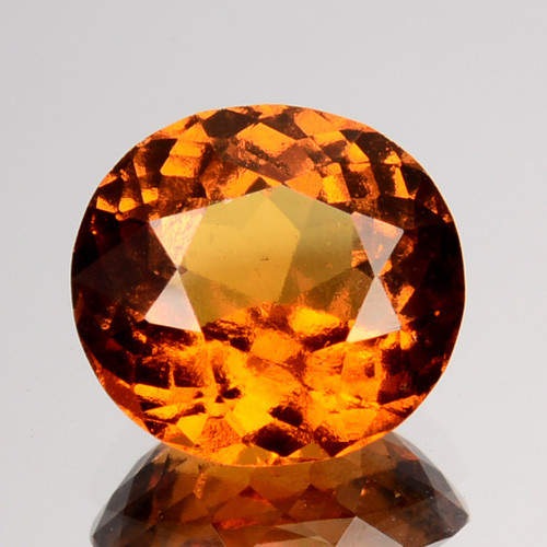 2.00 Cts Natural Hessonite Garnet Cinnamon Orange Oval Sri Lanka