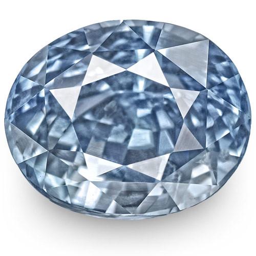 GIA Certified Sri Lanka Blue Sapphire, 6.59 Carats, Lustrous Blue Oval