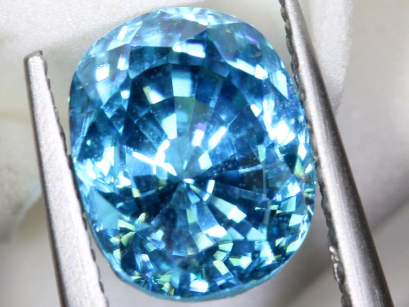 3.55 CTS NATURAL BLUE ZIRCON FACETED PG-2978