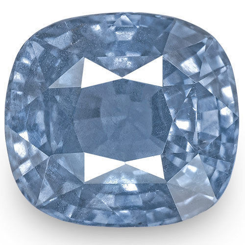 GIA Certified Sri Lanka Blue Sapphire, 5.21 Carats, Intense Blue Cushion
