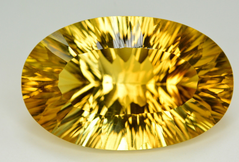Laser Cut 82.55 Ct Gorgeous Color Natural Citrine