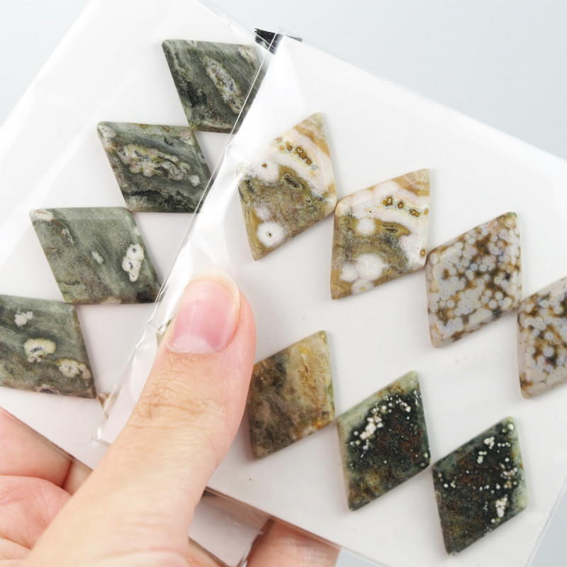 150Cts parcel 8 Pairs  Ocean Jasper Gemstones  W1212