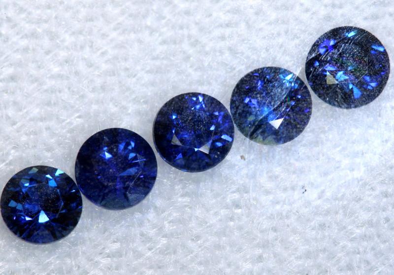 Loose sapphire gemstones