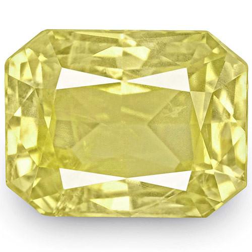 IGI Certified Sri Lanka Yellow Sapphire, 8.26 Carats, Lustrous Yellow
