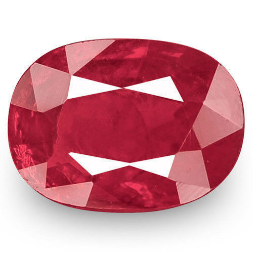 IGI Certified Mozambique Ruby, 0.69 Carats, Deep Red Oval
