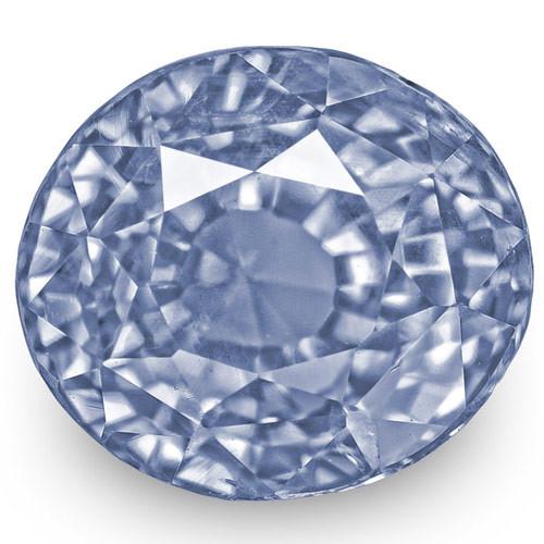 IGI Certified Burma Blue Sapphire, 4.81 Carats, Lustrous Intense Blue OvalI