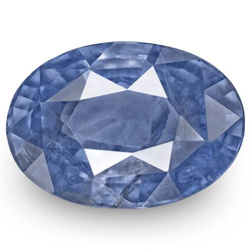 IGI Certified Burma Blue Sapphire, 4.34 Carats, Deep Blue Oval