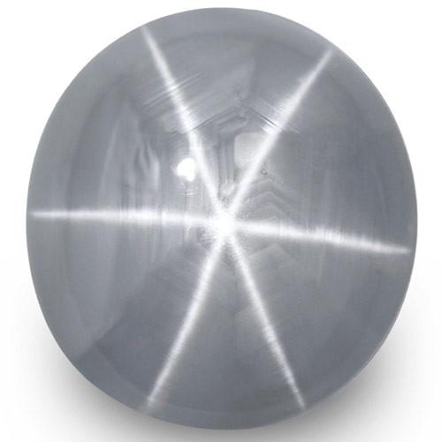 Sri Lanka Blue Star Sapphire, 11.48 Carats, Bluish Grey Oval